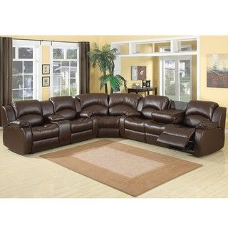 samara family bonded leather reclining sectional sofa by ac pacific