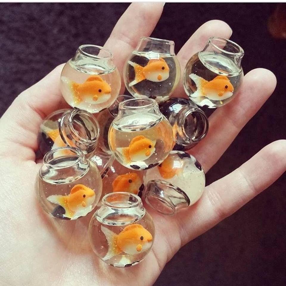 Beautiful mini fishbowl pendants resin crafts
