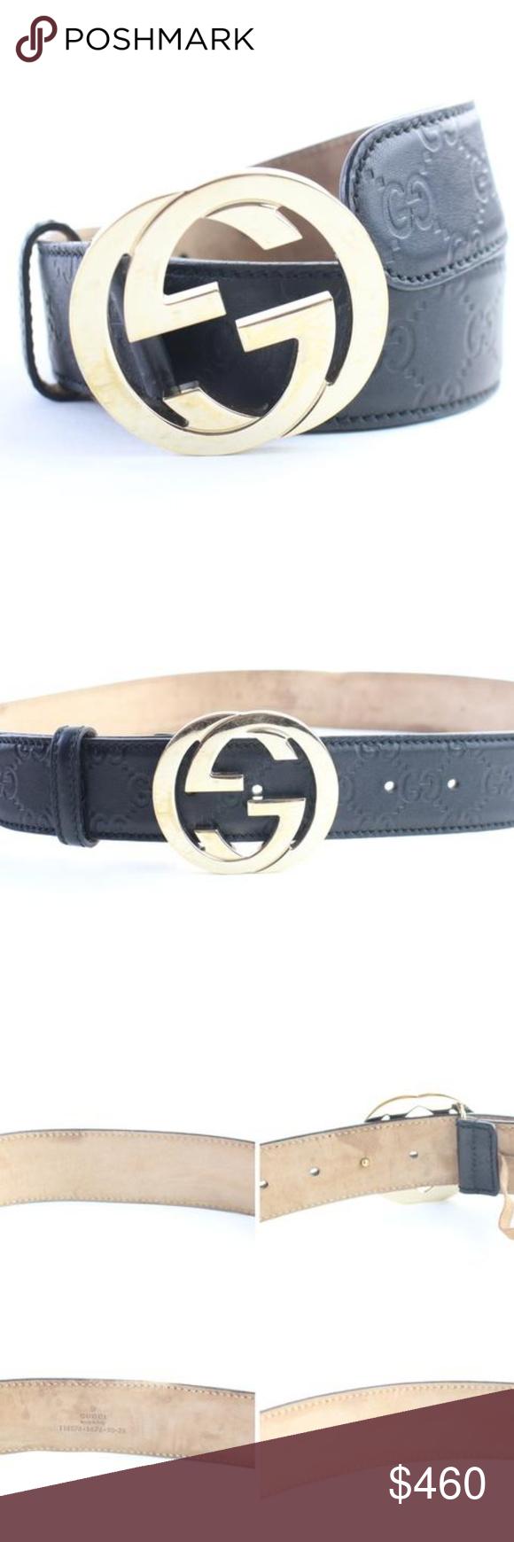 f689a2460cfa Guccissima Interlocking GG Belt 13GR0628 Date Code/Serial Number:  114876.1476.90.36 Made In
