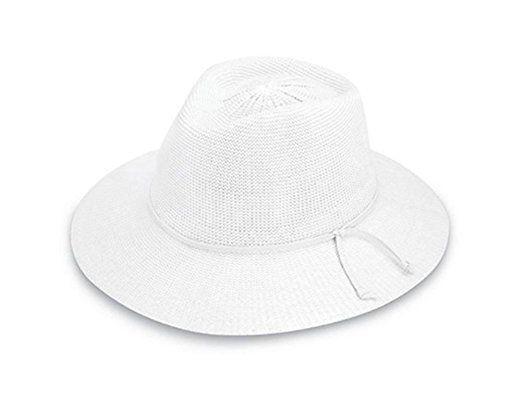 Wallaroo Women S Uv Victoria Fedora Hat White Upf50 Sun Protection Adjustable Packable Uk Hats Women Hats Women Fashion Hats Hats For Women Women