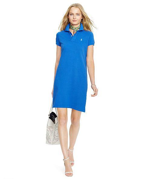 d68f5103046 Cotton Mesh Polo Dress - Polo Ralph Lauren Short Dresses - RalphLauren.com