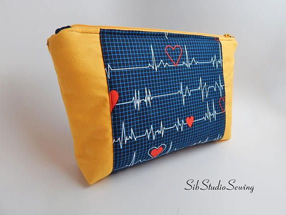 Yellow Stethoscope Bag 10 X 6 5 X 2 Inches Interior Vinyl With Images Vinyl Bags My Etsy Shop