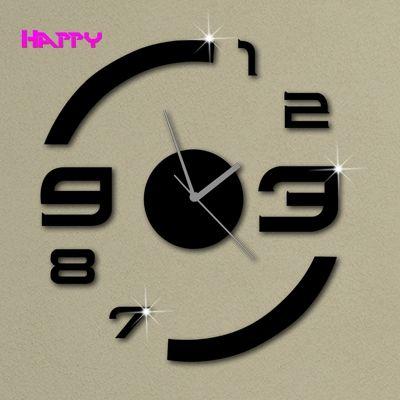 Fashion Design Wall Clock Modern Luxury Mirror 3d Crystal Watches Clocks 6 Numbers Total Yiwu Mirror Craft Fac Diy Clock Wall Mirror Wall Clock Wall Clock