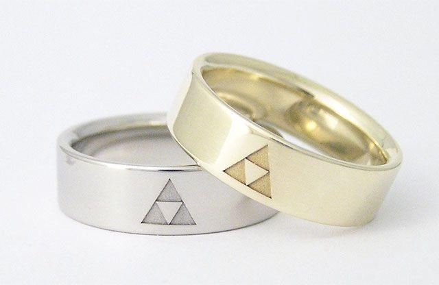 Legend Of Zelda Wedding Rings Wedding Ring Zelda Zelda Ring Zelda Wedding