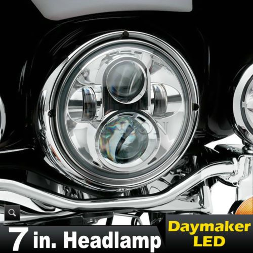 Motorcycle parts 7 led chrome projector daymaker headlight for motorcycle parts 7 led chrome projector daymaker headlight for harley heritage softail classic sciox Images