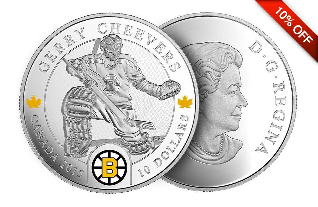 1 2 Oz Silver Coin Nhl Goalies Gerry Cheevers 9999 Silver Bullion Coins Gold And Silver Coins Silver Bullion
