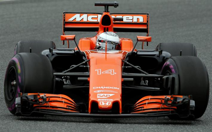 Lataa kuva Fernando Alonso, McLaren MCL32, Formula 1, McLaren, F1, kilpa-auto