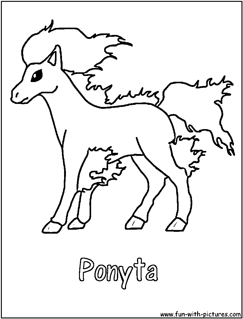Cloring+pages | Ponyta Pokemon Colouring Pages