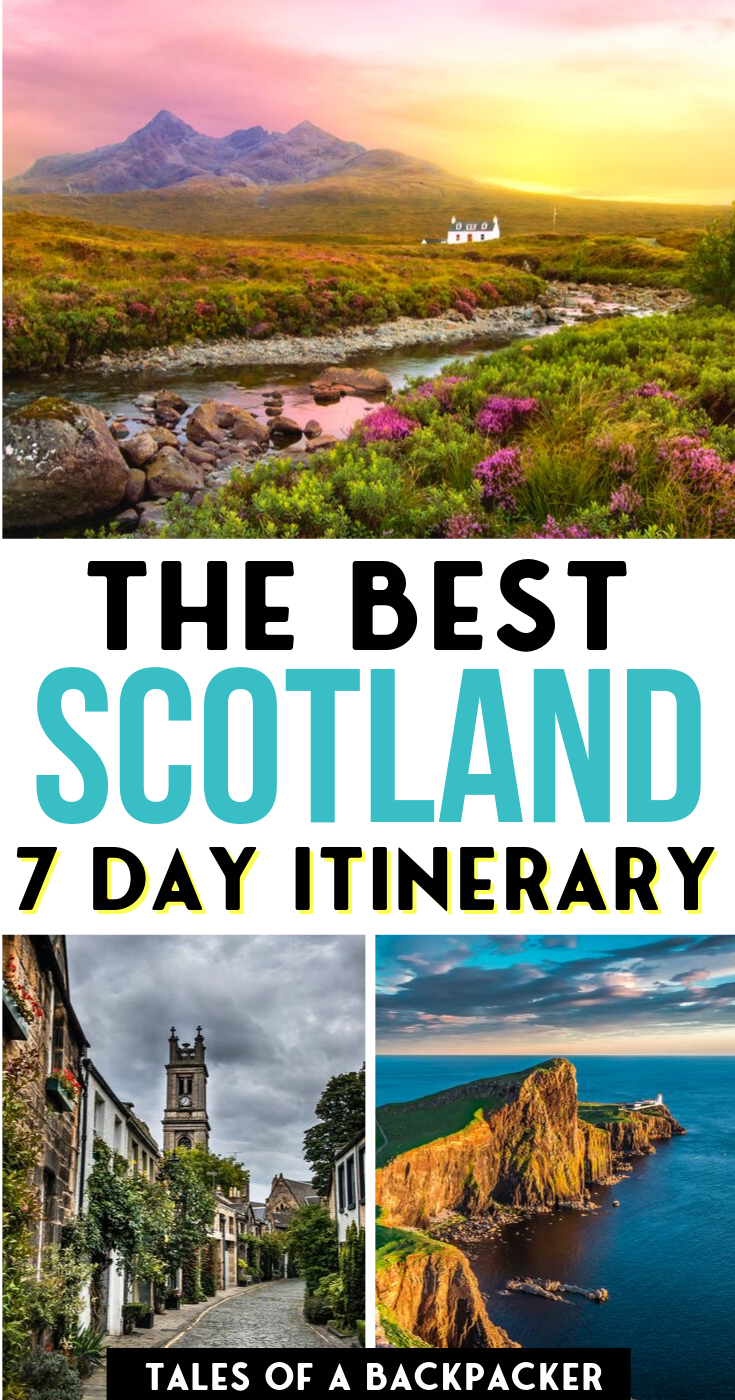 This is the best Scotland 7 Day Itinerary! How to Spend 7 Days in Scotland. I spent a week in Scotland and this is the 7 day Scotland itinerary I followed, which you can adapt to suit your needs or sign up for a tour like I did! #Scotland #UnitedKingdom #Itinerary | Scotland Travel Guide | One Week in Scotland | Scotland 1 Week itinerary | What to do in Scotland | Where to go in Scotland | Scotland Must Seers |