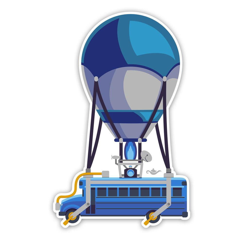 Battle Bus Sticker Battle Royale Inspired Fortnite Decal Grantedesigns Eid Stickers Homemade Stickers Birthday Party Printables