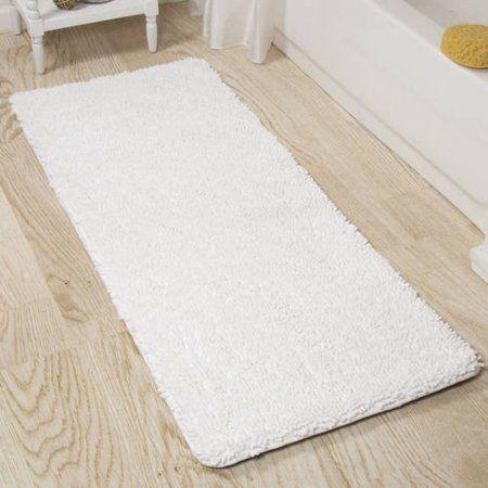 Somerset Home Memory Foam Shag Bath Mat 2 X 5 White Products