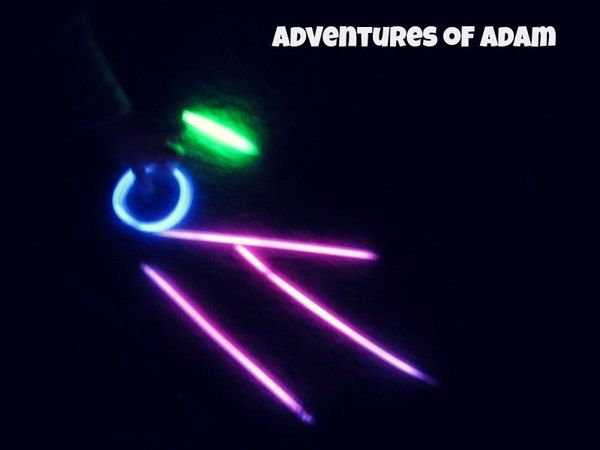 Glow Sticks Play – Day 58 Toddler Play Challenge