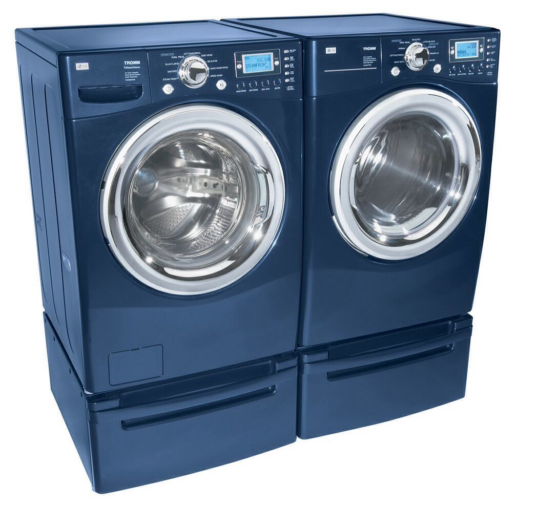 Navy Blue Washer And Dryer