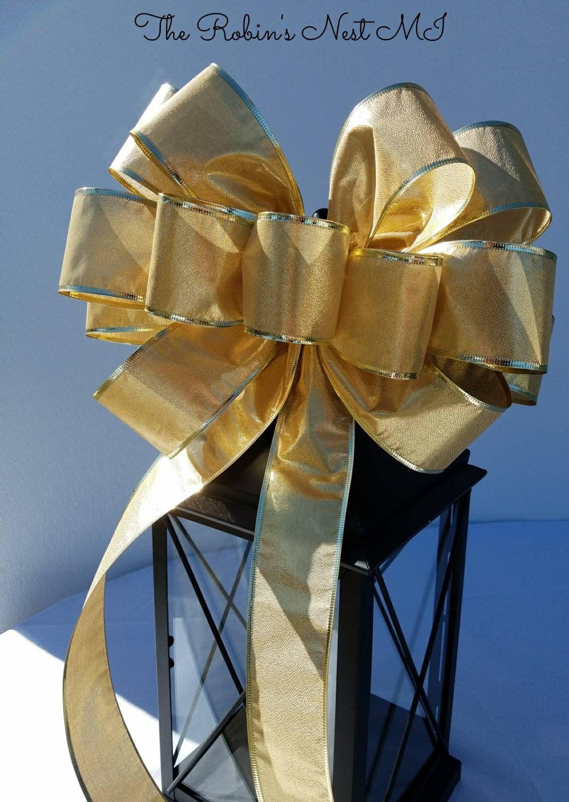 xl gold bridal bow gold wedding bow gold lantern swag bow nursery