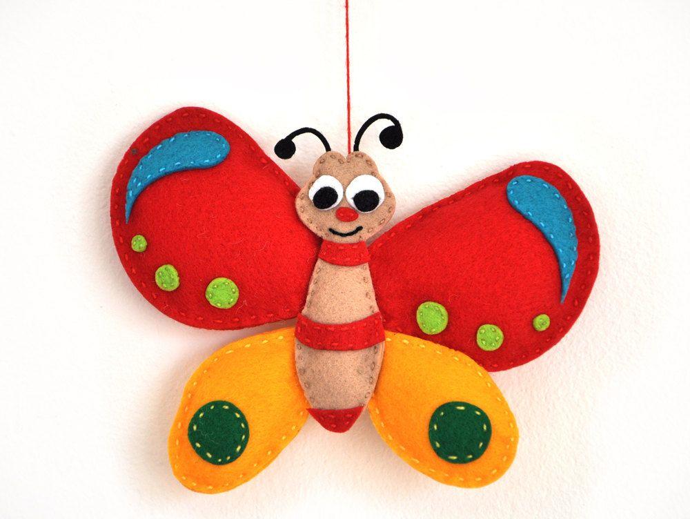 Molde de peluche de mariposa gratis