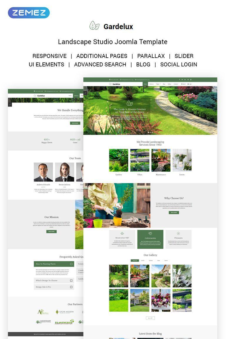 gardelux landscape studio joomla template best premium joomla