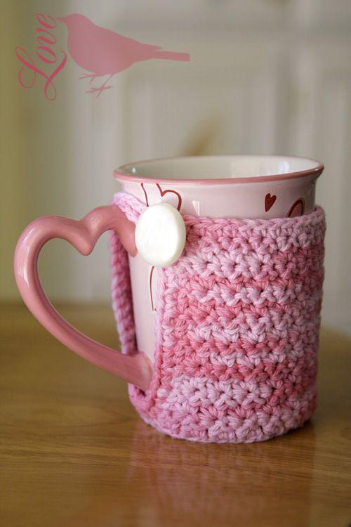 Mug cozy crochet pattern   Tazones   Pinterest   Tejido, Teteras y ...