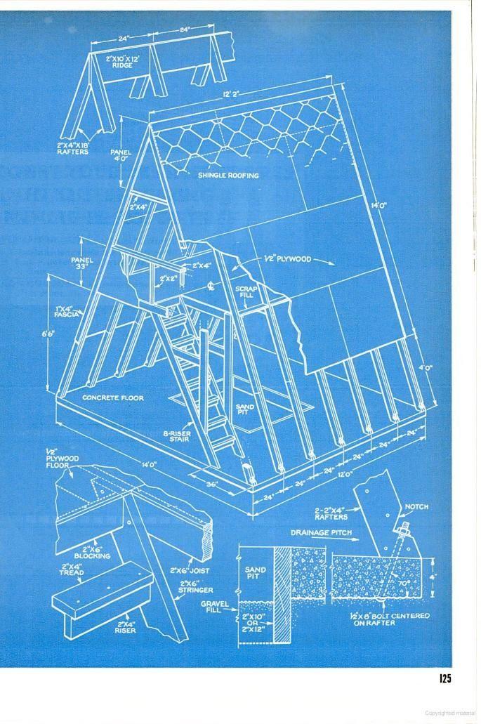 G A R D E N F I N D S A Frame Cabin Plans Play Houses A Frame House