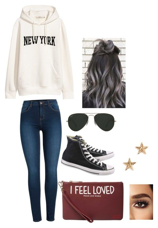 New York New York By Navygirl On Polyvore Featuring Polyvore Fashion Style Pieces Converse Peace Love World Gorjana Ray Ban And Clothing