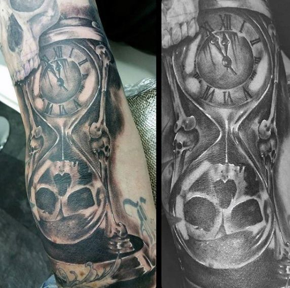a0f93f163d330 60 Hourglass Tattoo Designs For Men - Passage Of Time | Patience ...