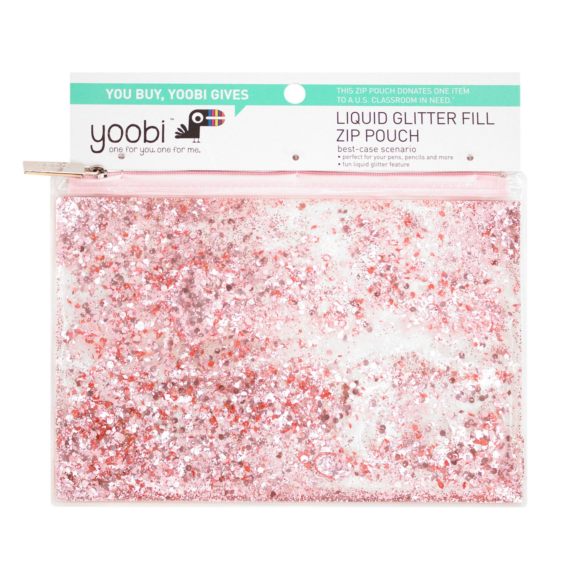 Liquid Glitter Pencil CaseClear Pvc