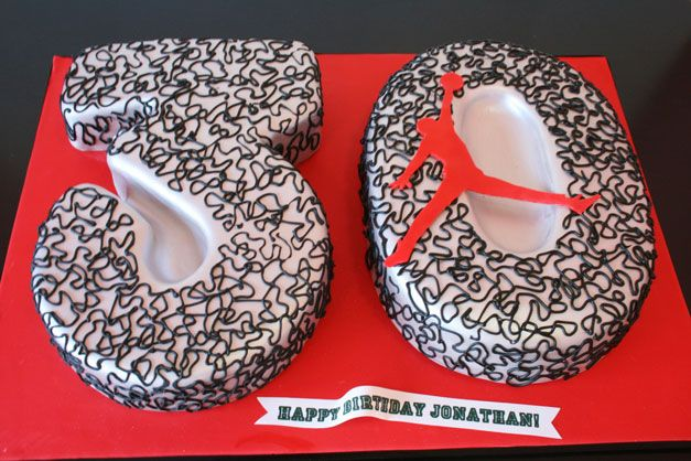 Fantastic 3D 30Th Birthday Cakes Nj Jordan Logo Custom Cakes 30 Birthday Funny Birthday Cards Online Chimdamsfinfo