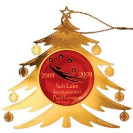 Etched Brass with Gold Finish Custom Christmas Tree Ornament