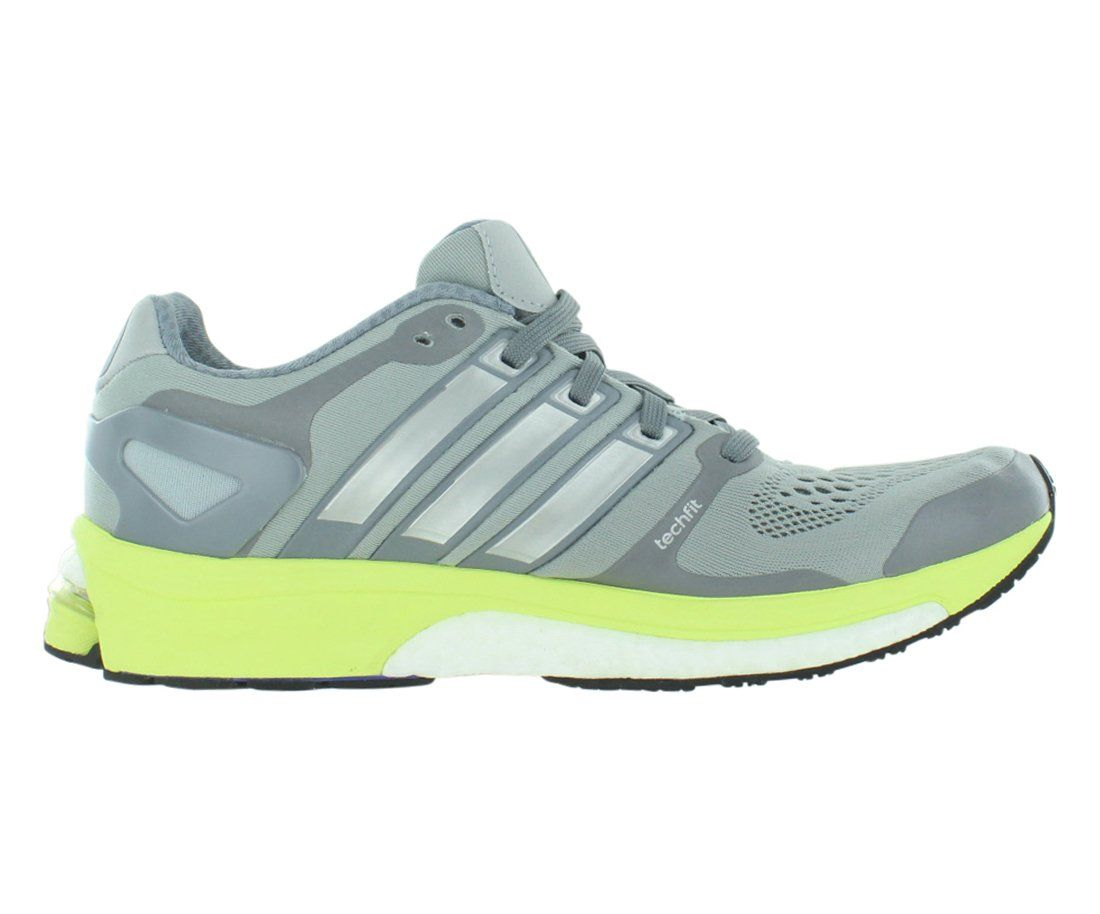d0484b91d73 adidas Womens Adistar Boost W ESM Light Grey Lime Green Running Shoe 7.5  Women US