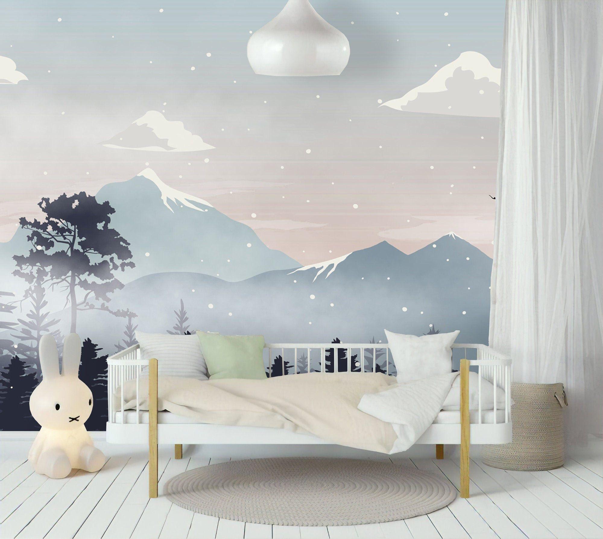 Kids Wallpaper For Nursery Mountain Wallpaper