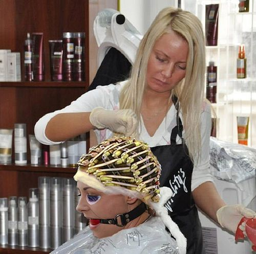Hair roller bondage apologise