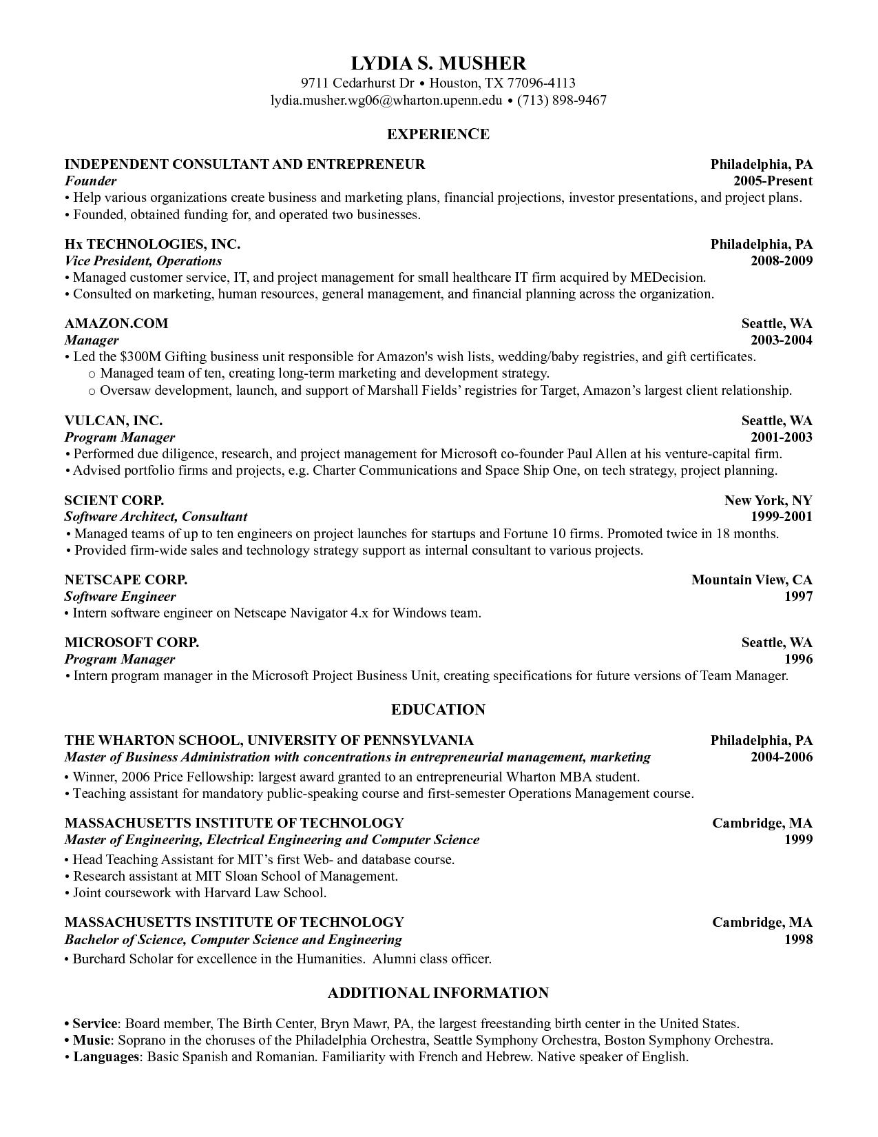 Resume Templates Harvard ResumeTemplates
