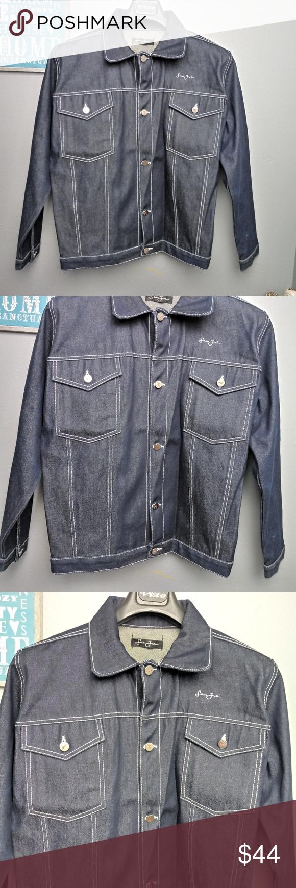 Sean John Men S Denim Jean Jacket Medium Denim Jeans Men Mens Denim Denim Jean Jacket [ 1740 x 580 Pixel ]