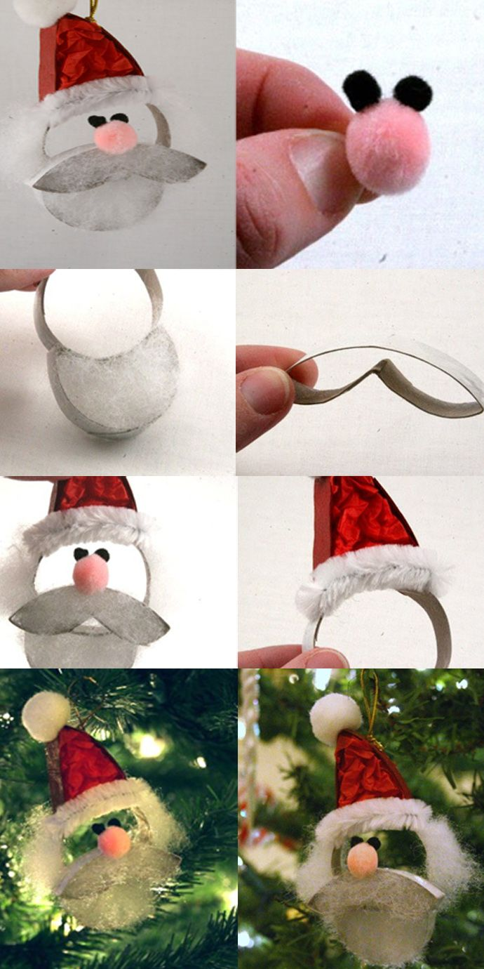 Ho ho hoke a santa claus from a paper roll santa craft 20 toilet paper roll christmas crafts for the most spectacular holiday jeuxipadfo Image collections