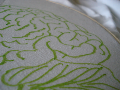 Tutorial: Using Press 'n Seal to transfer embroidery patterns. Using plastic wraps.