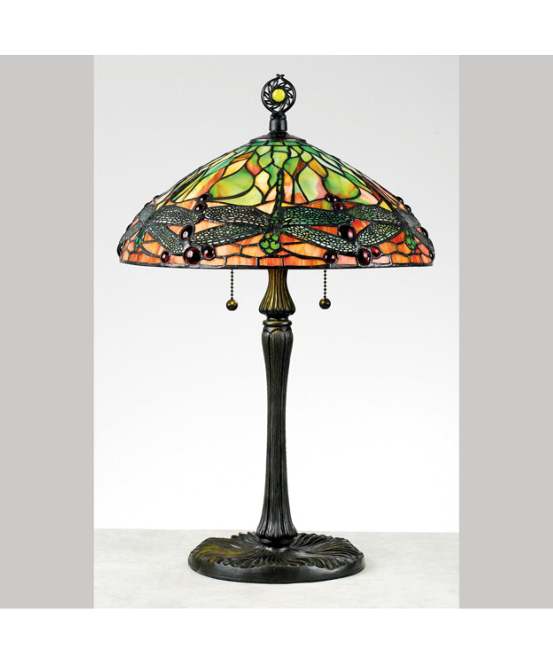 Antique Tiffany Lamps Original Vintage Bronze Dragonfly Stained
