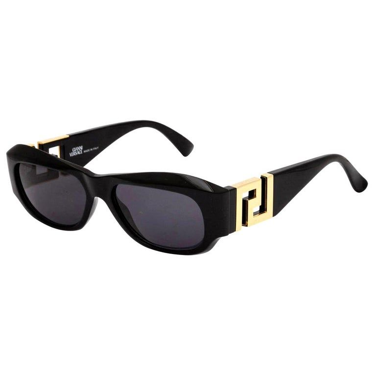 Gianni Versace Safety Pin Sunglasses Mod 427 Col 279 At: Gianni Versace Mod T75 Col 852 Sunglasses, Black