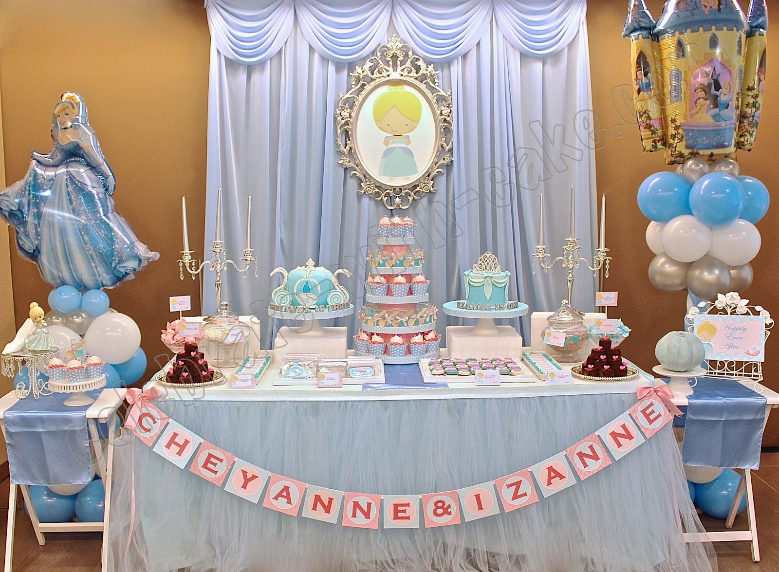 Cinderella Dessert Table Click Post To View More Pictures Cinderella Birthday Party Princess Theme Party Disney Princess Theme Party
