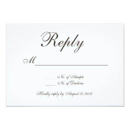 reply card wedding