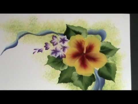 "One Stroke Painting ""L'Hibiscus"" di Marzia Di Somma (5.12)"