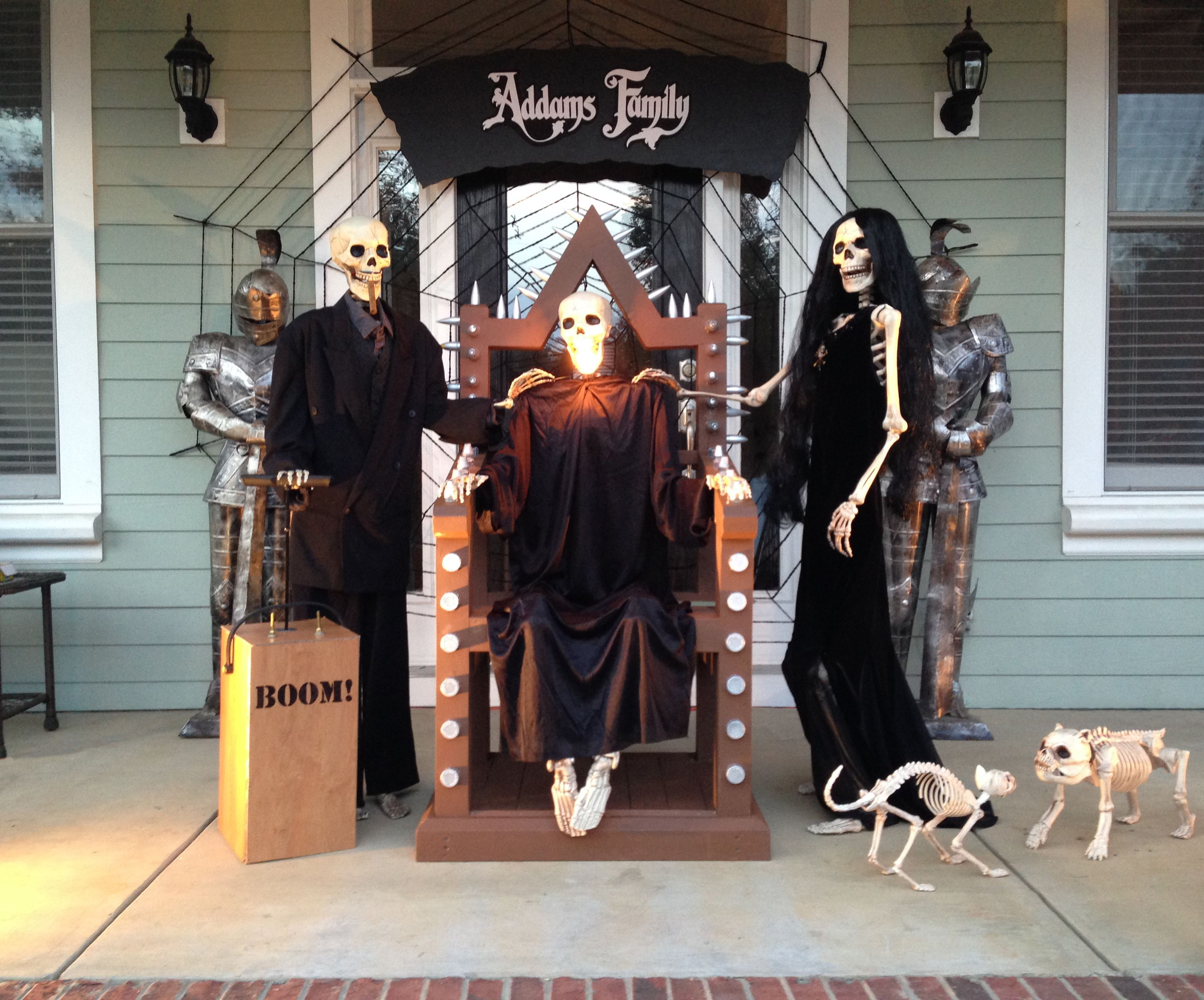 Addams Family Halloween Party.The Addams Family The Baxter Skeletons Help Promote Local High