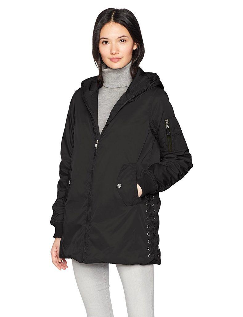 Steve Madden Womens Sweater Fleece Wrap Coat