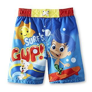1faf0f82a2 Nickelodeon- -Bubble Guppies Toddler Boy's Swim Shorts - Gil {G ...