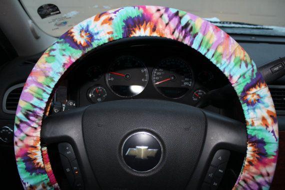 Tye Dye Steering Wheel Cover Hippie Spring by PickleAndRaRa, $14.00