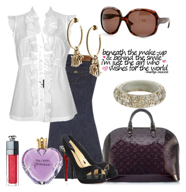"""Um, a vist to NYC!"" by barbiprincess ❤ liked on Polyvore featuring D&G, Forever 21, Louis Vuitton, Christian Dior, Vera Wang and Halston"