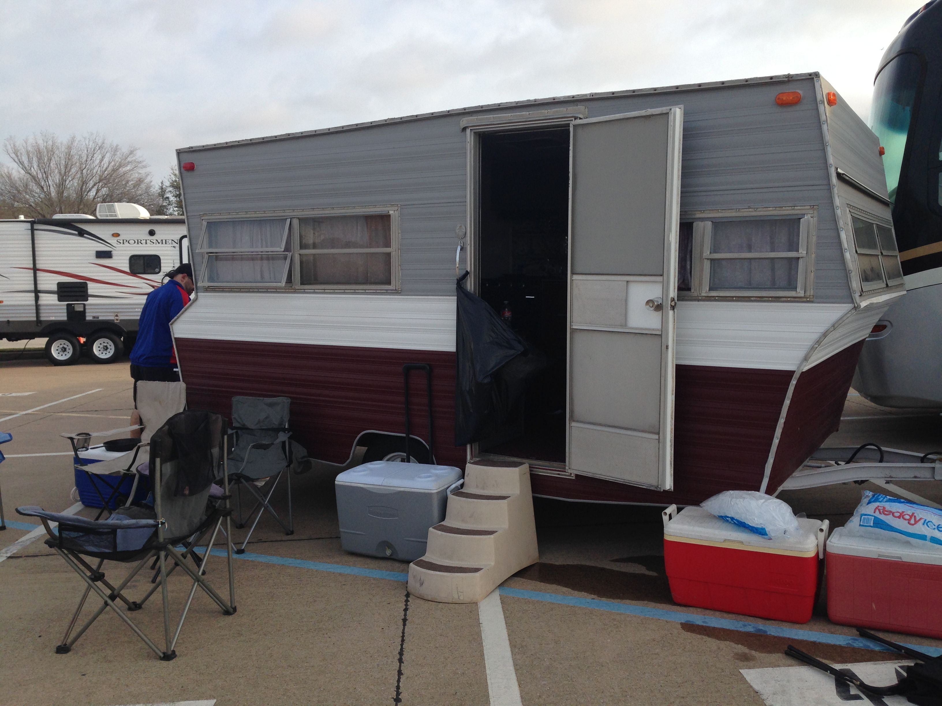 my RV, decorated in Texas A and M, def needs  remodel