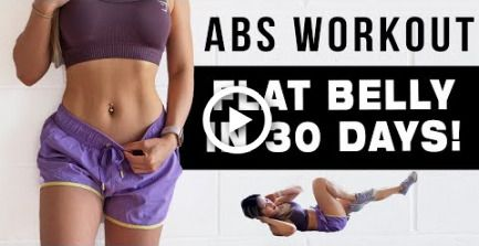 10 Mins ABS Workout To Get FLAT BELLY IN 30 DAYS | FREE WORKOUT PROGRAM #fitness