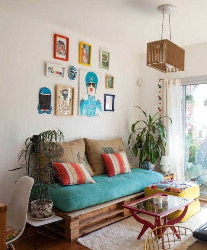 Pallet divano, arredamento soggiorno con mobili fai da te in legno ...