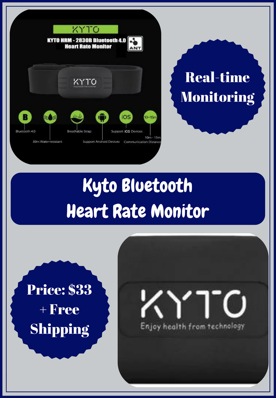 This Kyto Heart Rate Monitor 2830b Features A Heartbeatmonitorcircuitjpg Breathable And Elastic Chest Strap Water Resistant Design Bluetooth 40 Technology
