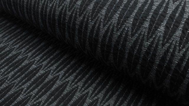 Hamburger Liebe Jacquard-Jersey: Leafy schwarz - 125 cm - Stoffe im Makerist Materialshop