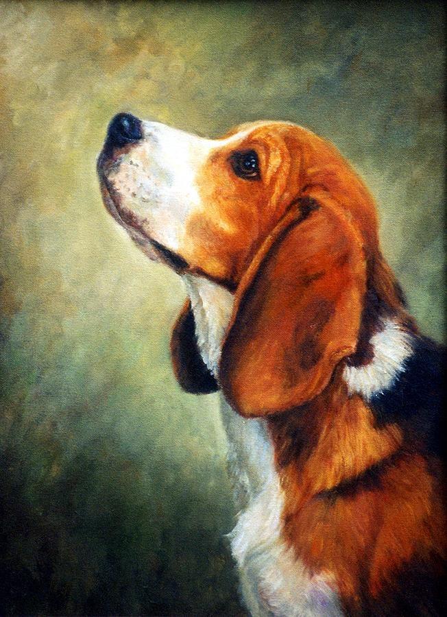 Beagle Dog Portrait Painting Beagle Art Dog Portraits Painting